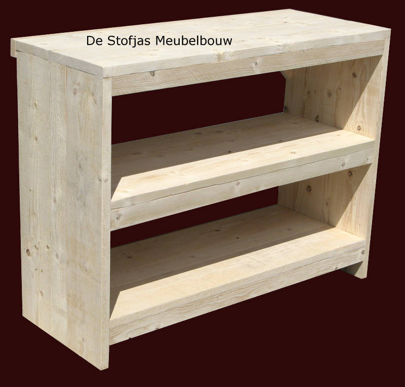 Steigerhouten keukentafel sidetable reurings for Sidetable steigerhout