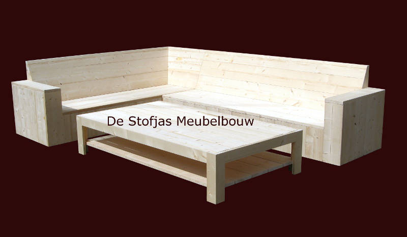 steigerhouten loungebank De Patio